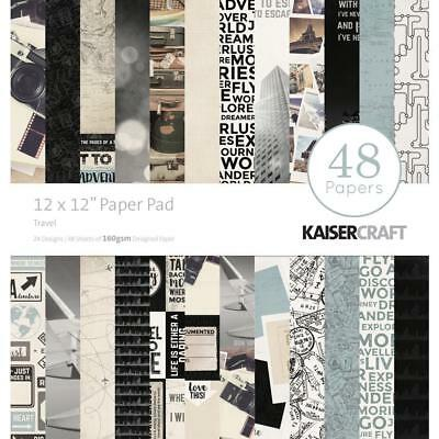 Kaisercraft Just Landed Paper Pad 12x12 48 Pages - Nini's Things