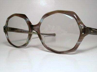 NOS 60-70s Sunglasses AO American Optical SUNVOGUES APPEAL Azure Gold Tintomatic