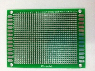 3PCS 6x8cm Double Side PCB Circuit Hole 0.9mm Pitch 2.0mm Plate Board