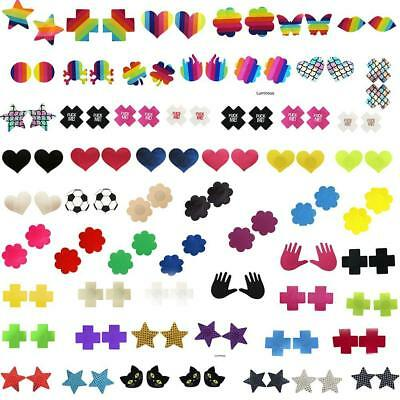 Cross Shape Adhesive Breast Nipple Cover Stickers Bra Pad Disposable Pasties NEW