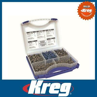 Kreg SK03 112874 Pocket-Hole Self Tapping Screw Project Kit 675pc Jig Joinery