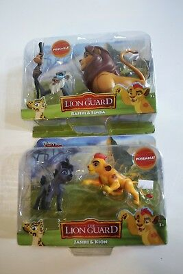 Disney The Lion King Guard Simba Rafiki Jasiri Kion Poseable Action Figures NEW