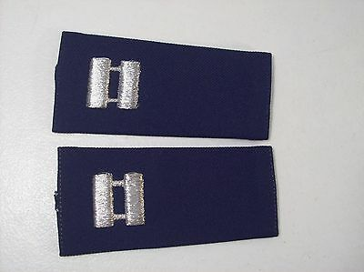 New Lot Of 2 Us Army Captain Shoulder Rank Epaulettes, Military Rank