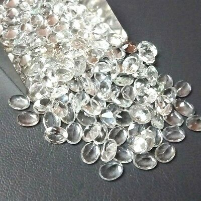 Wholesale Lot of 7x5mm Oval Facet Natural White Topaz Loose Calibrated Gemstone