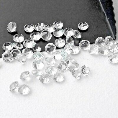 Wholesale Lot of 5mm Round Facet Natural White Topaz Loose Calibrated Gemstone