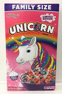Unicorn Sweetened Multigrain Magic Cupcake Flavored Cereal 18.7 oz Kellogg's