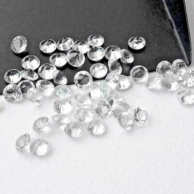 Wholesale Lot of 4mm Round Facet Natural White Topaz Loose Calibrated Gemstone
