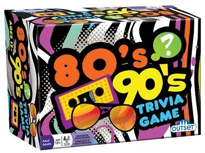 80's 90's Trivia Card Game by Outset Media 13337
