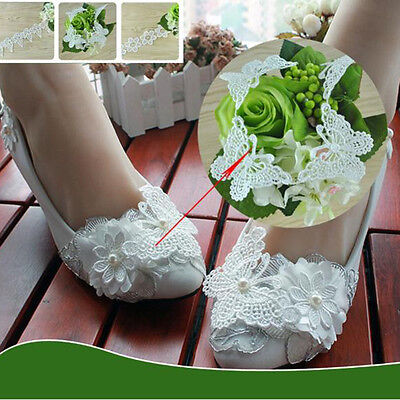 1yard Vintage Butterfly Lace Edge Trim Ribbon Applique Sewing Wedding Craft DIY#