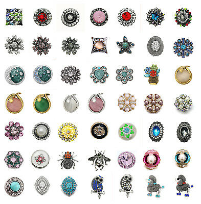 Good Crystal Charm Chunk Drill Snap Button Fit For Noosa Bracelet Jewelry