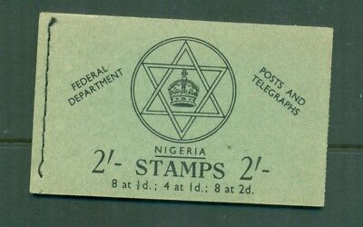 Nigeria  1957 2sh Posts and Telegraphs  Booklet  Seal SB8
