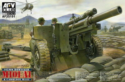 AFV Club 1/35 105mm Howitzer M101A1 & Carriage M2A2