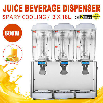 Commercial 18L*3 Tank Frozen Cold Drink Beverage Milk Juice Dispenser Machine
