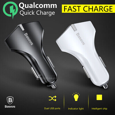 BASEUS Fast Car Charger for iPhone XS MAX XR X 7 8 Samsung S10 S9 S8 Plus Note 9