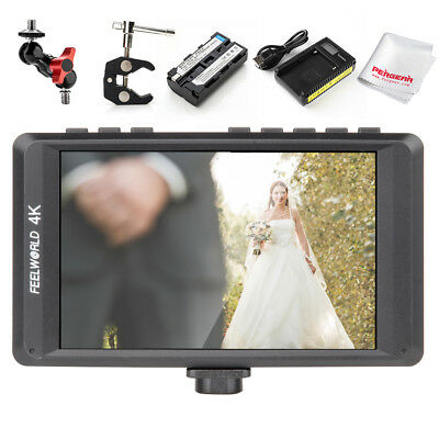 Feelworld FW450 4.5 Inch IPS 1280x800 4K HDMI On-Camera Monitor+ Battery Pack