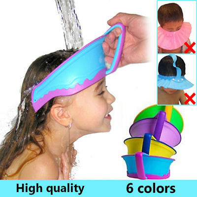 Soft Shampoo Visor Hat Toddler Kids Baby Bath Hats Shower Wash Hair Shield Cap