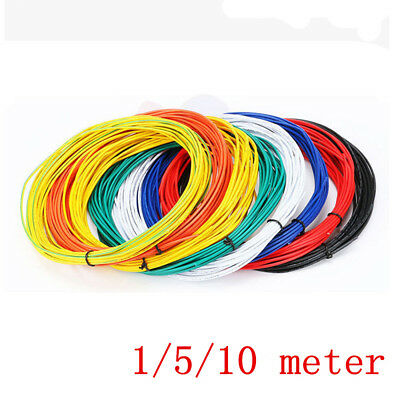 1M/5M/10M Flexible Stranded UL1007 18AWG~26AWG  Electronic Wire PVC Cable 300V