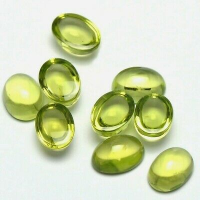 Wholesale Lot 4x3mm Oval Cabochon Cut Natural Peridot Loose Calibrated Gemstone