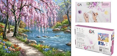 DIAMOND Embroidery Facet Art Kit 5D Painting Beads SPRING Scenic 48cm x 38cm
