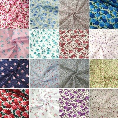 Polycotton Fabric Floral Rose Collection Buy 3 Get 1 Free Floral Flower