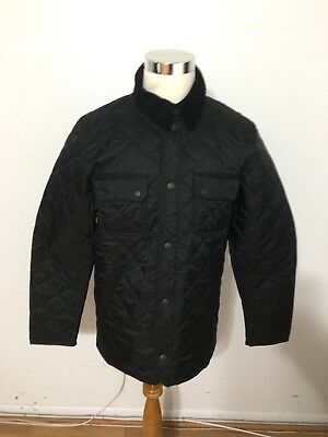 NWT Men's BARBOUR Tinford Quilted Jacket, Small, Black