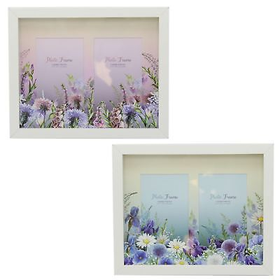 Meadow Floral Layered Box Double Photo Picture Frame