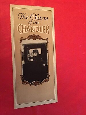 "x. 1920 Chandler ""Limousine Roadster Sedan Coupe"" Car Dealer Sales Brochure"