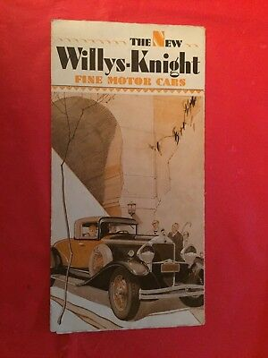 "k. 1929 Willys-Knight ""Willys-Knight Six Models"" Car Dealer Sales Brochure"