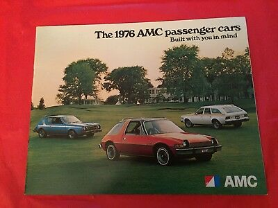 "k. 1976 AMC ""Matador Hornet Pacer Gremlin"" Car Dealer Sales Brochure"