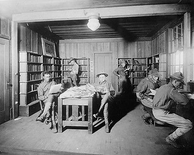 Knights of Columbus library for soldiers at Camp Kearny World War I Photo Print