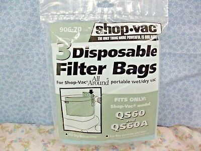 SHOP-VAC, 3 Disposable Collection Filter Bags for All Around®, Part# 906-70