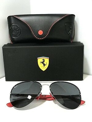 741e2da983 New RAY BAN SCUDERIA FERRARI RB3460M F01387 AVIATOR Silver Grey Lens  SUNGLASSES