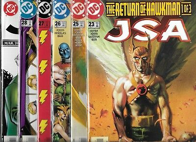 Jsa Lot Of 6 - #23 #25 #26 #27 #28 #32 (Nm-) Justice Society Of America