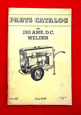 Onan 150 Amp D.C. Welder Parts Book msu4