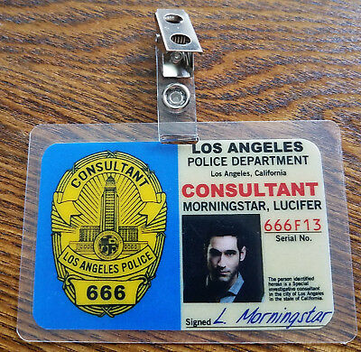 Lucifer TV Show ID Badge-Consultant Lucifer Morningstar cosplay costume prop