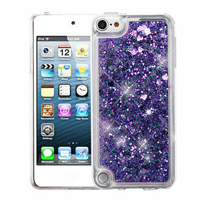 For Apple iPod Touch 5th 6th Generation Hearts & Purple Glitter Hybrid Case