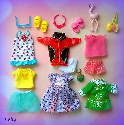 Lot Of Barbie Kelly Doll Clothes Accessories Plus Shoese My