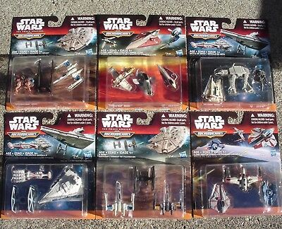 Set of 18 Star Wars Micro Machines.  New in 6 Packages.  Hasbro.
