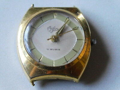 for parts VINTAGE Watch MONTRE FEMME BIFORA 17 RUBIS uhr SWISS suisse LADY femme