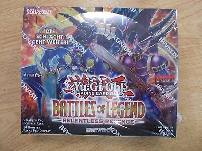 BOOSTER DISPLAY Yu-Gi-Oh Battles of Legend Relentless Revenge  deutsch ovp