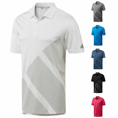 adidas Golf Mens Bold 3Stripes UPF 50+ Lightweight Polo Shirt 43% OFF RRP