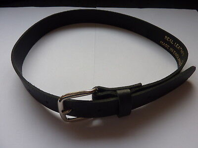 """Quality Boys/childrens Black Leather Belts To Fit Approx.26""""-31"""" Waist"""