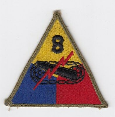 Us Army Patch - 8Th Armored Division - Original Wwii