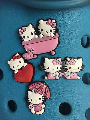 4 Hello Kitty Shoe Charms For Crocs & Jibbitz Wristbands