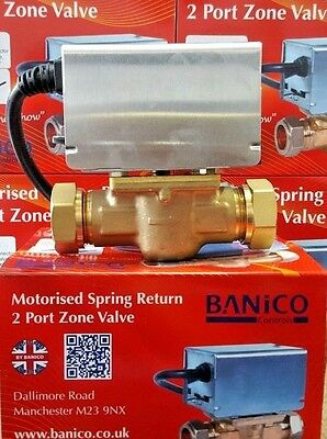Central Heating 2 Port Motorised Zone Valve 22mm Replaces Honeywell V4043H1056 B