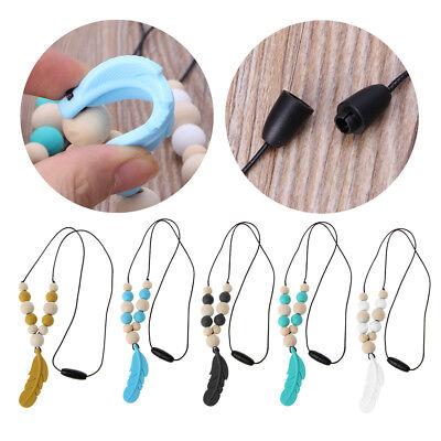 Infant Baby Silicone Feather Jewelry Teething Necklace Baby Nursing Chewing Toys