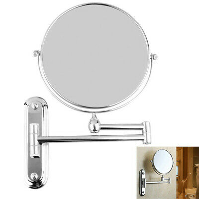 Extending Wall Mounted Bathroom Cosmetic Shaving Mirror