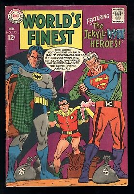 World's Finest Comics (1941) #173 1st Print 1st Silver Age App Two-Face VG+
