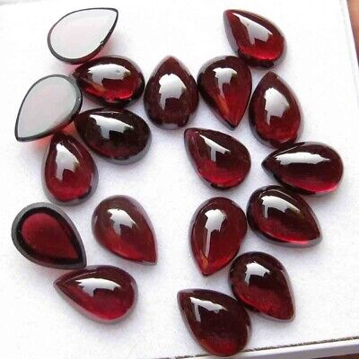 Wholesale Lot of 8x5mm Pear Cabochon Natural Garnet Loose Calibrated Gemstone