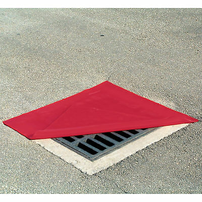 Chemtex DrainProtector Reversible Drain Cover-Red 36inL x 36inW x 1/4inH OIL810